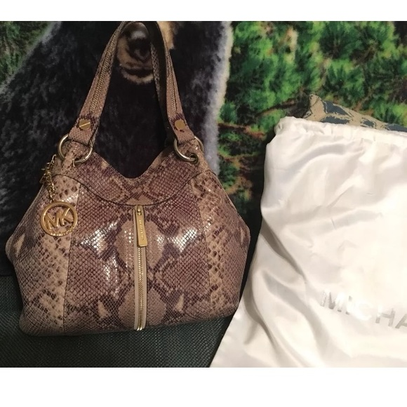 ea8d295d68 Michael Kors Bags   Moxley Sand Python Purse   Poshmark